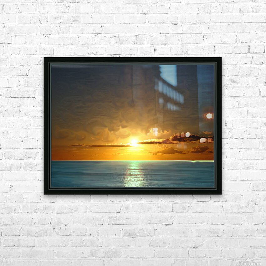 Painted Sky HD Sublimation Metal print with Decorating Float Frame (BOX)