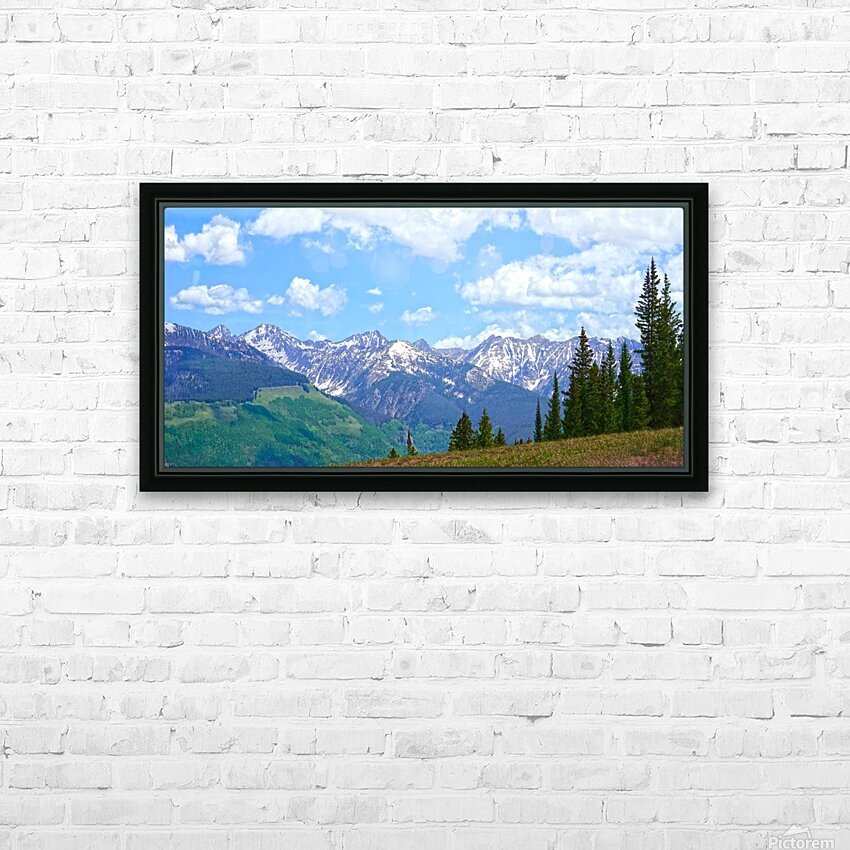 Rocky Mountain High Colorado Panorama  HD Sublimation Metal print with Decorating Float Frame (BOX)