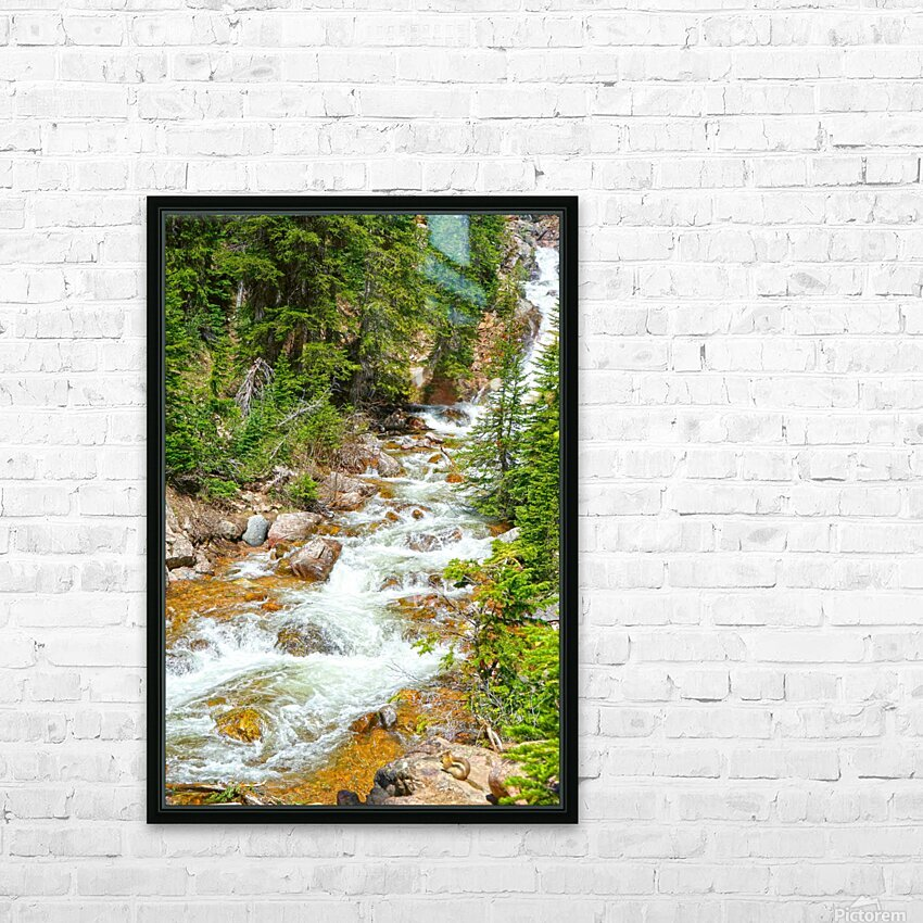 Spring Runoff Chipmunk HD Sublimation Metal print with Decorating Float Frame (BOX)