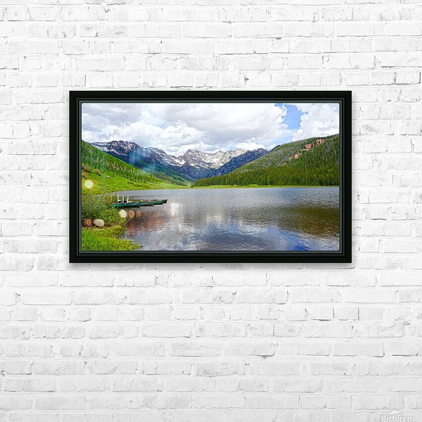 Rocky Mountain Reflections HD Sublimation Metal print with Decorating Float Frame (BOX)