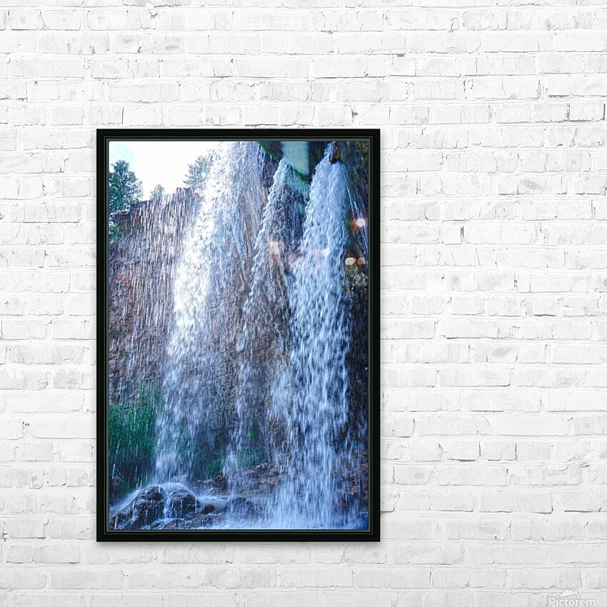 Standing in the Waterfalls HD Sublimation Metal print with Decorating Float Frame (BOX)