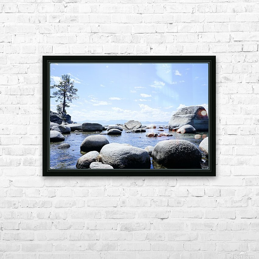On the Lake - Tahoe California USA HD Sublimation Metal print with Decorating Float Frame (BOX)