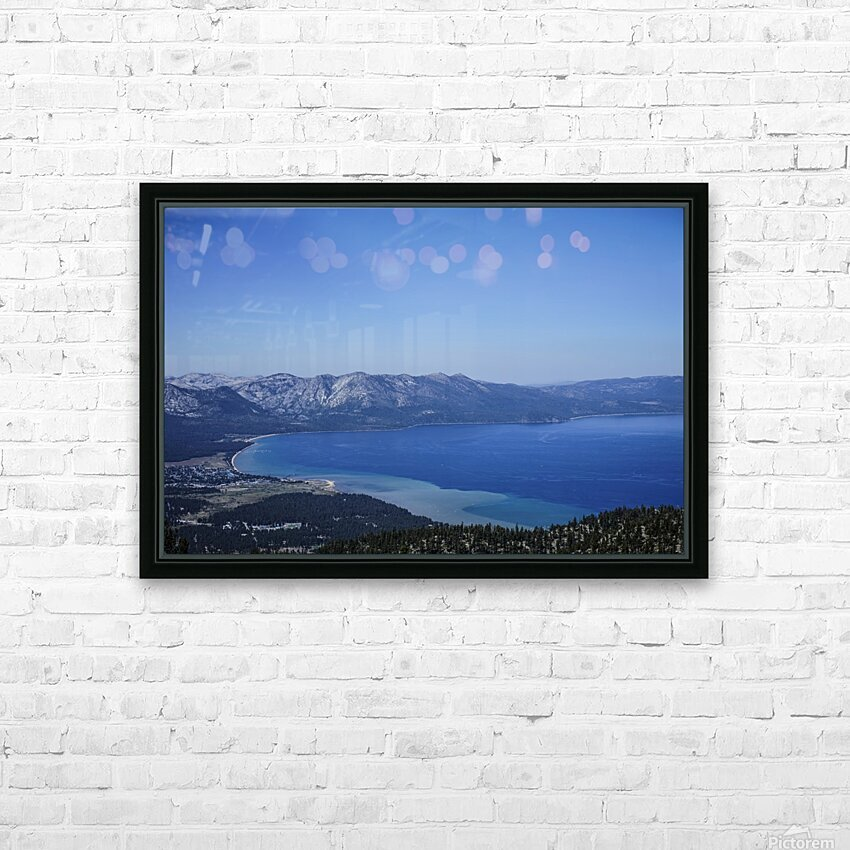Lake Tahoe View - Tahoe California USA HD Sublimation Metal print with Decorating Float Frame (BOX)