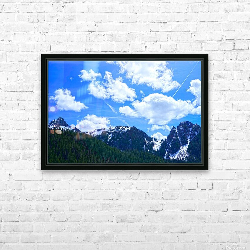 In the Cascade Mountains HD Sublimation Metal print with Decorating Float Frame (BOX)