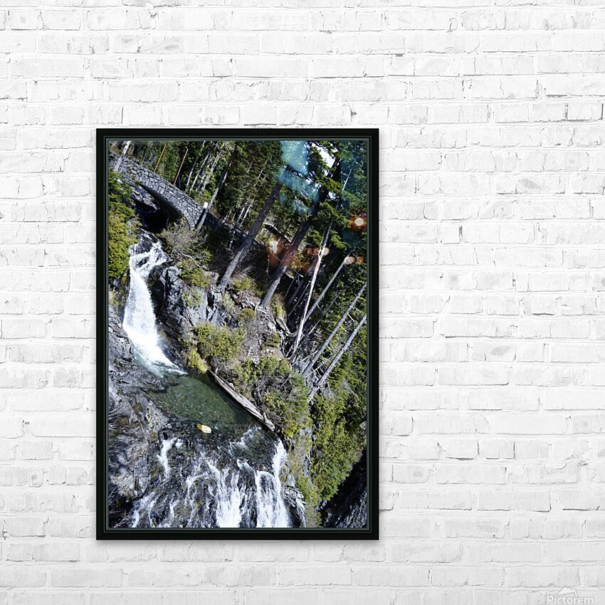 From Bridge to Stream HD Sublimation Metal print with Decorating Float Frame (BOX)
