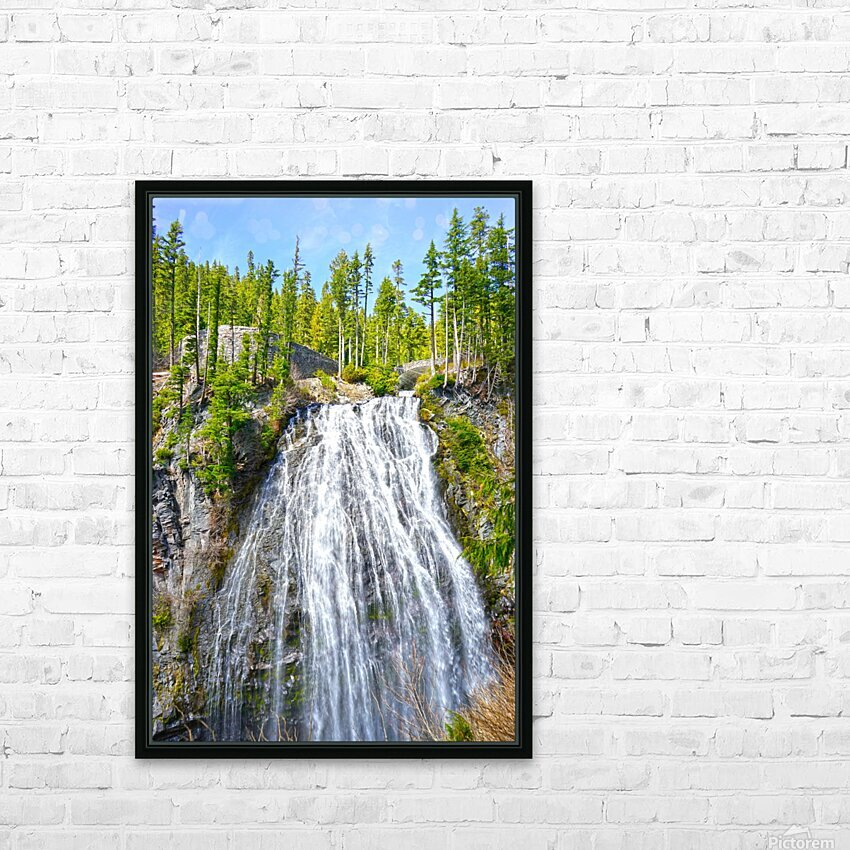 Northwest Waterfall HD Sublimation Metal print with Decorating Float Frame (BOX)