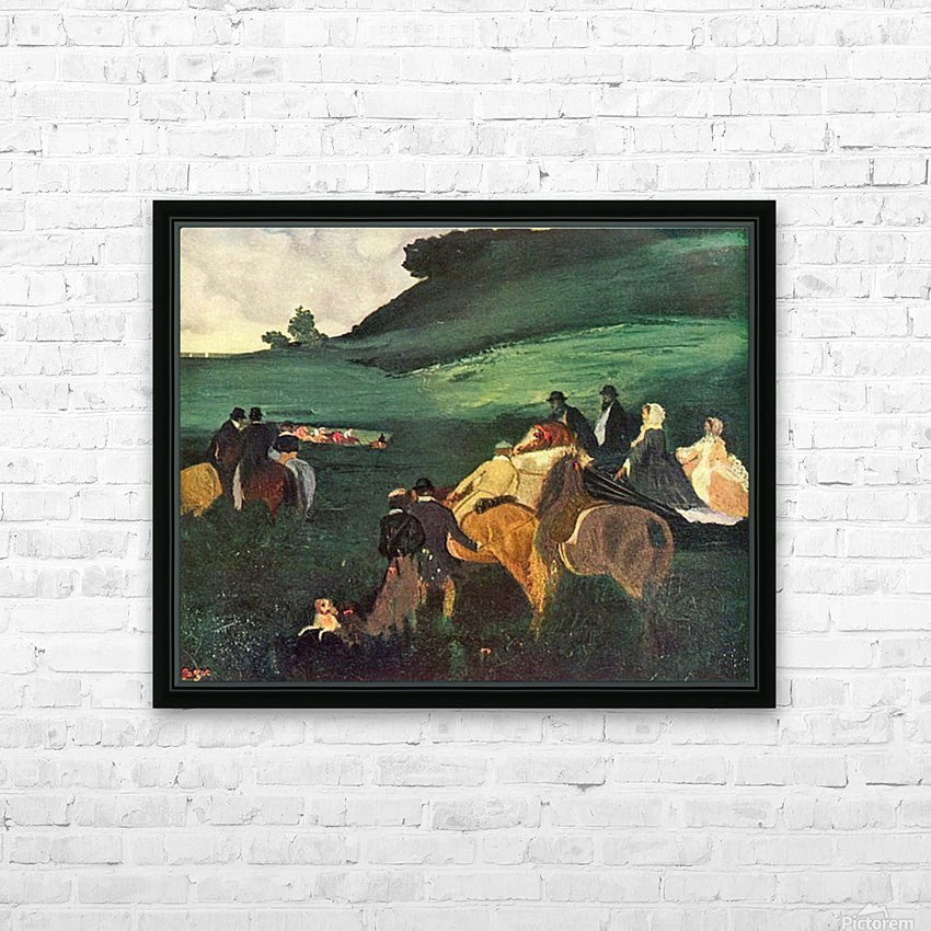 Riders in the  landscape by Degas HD Sublimation Metal print with Decorating Float Frame (BOX)