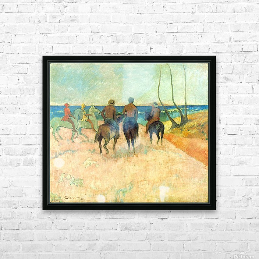 Riding on the Beach 2 by Gauguin HD Sublimation Metal print with Decorating Float Frame (BOX)