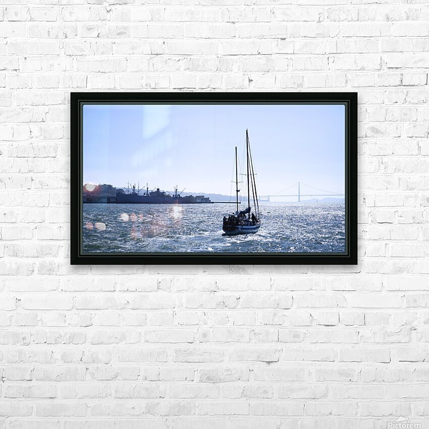 Golden Gate Dreams @ San Francisco HD Sublimation Metal print with Decorating Float Frame (BOX)