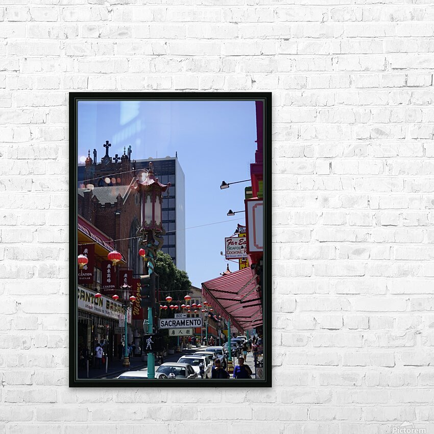 Snapshot in Time Chinatown 2 @ San Francisco HD Sublimation Metal print with Decorating Float Frame (BOX)