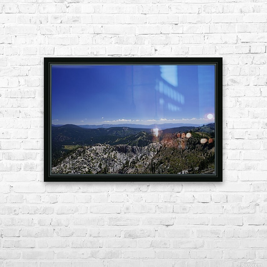View from the Top Lake Tahoe California HD Sublimation Metal print with Decorating Float Frame (BOX)