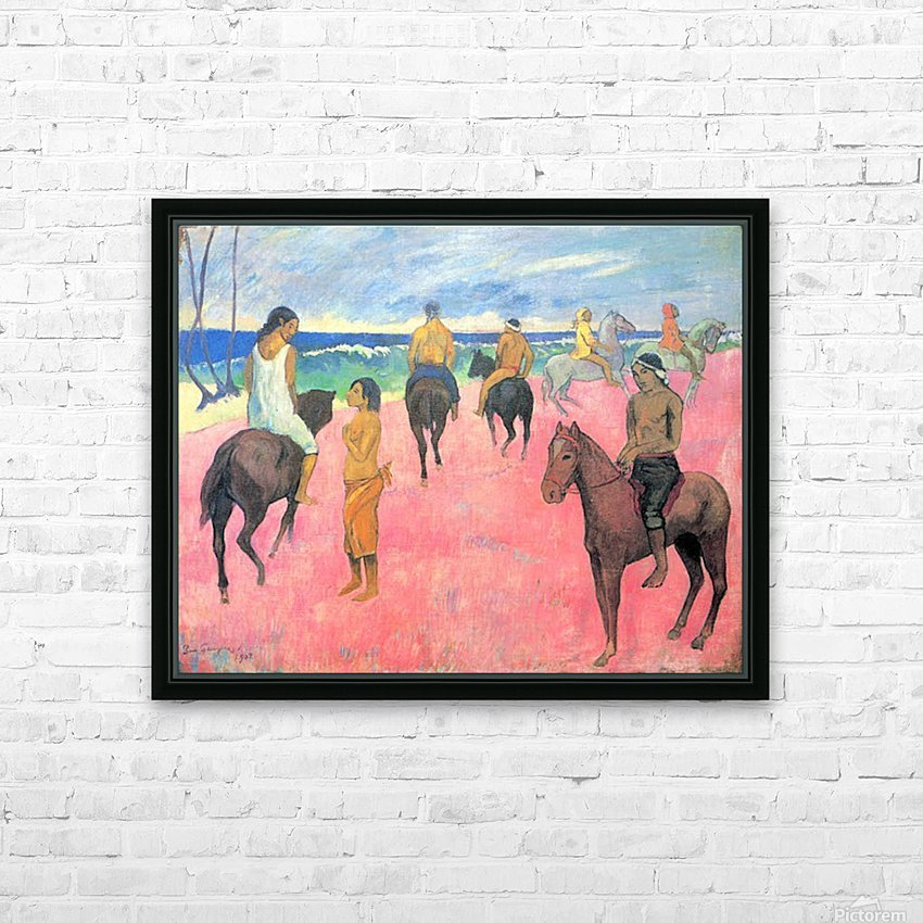 Riding on the beach by Gauguin HD Sublimation Metal print with Decorating Float Frame (BOX)