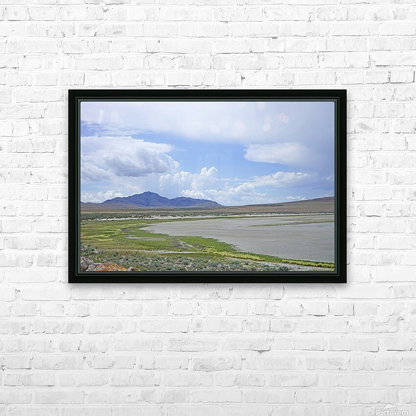 The Great Salt Lake 3 of 7 HD Sublimation Metal print with Decorating Float Frame (BOX)