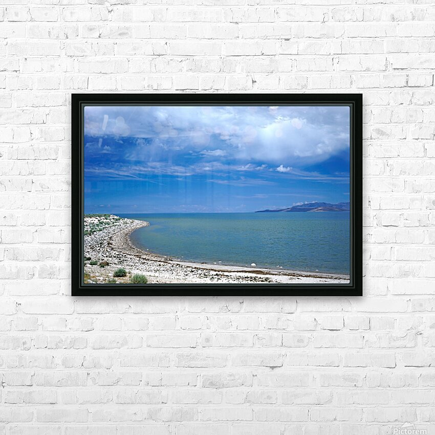 The Great Salt Lake 6 of 7 HD Sublimation Metal print with Decorating Float Frame (BOX)
