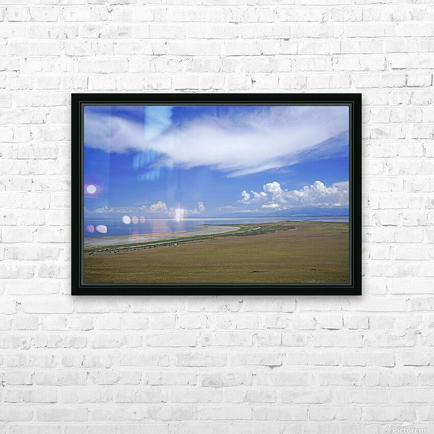 The Great Salt Lake 7 of 7 HD Sublimation Metal print with Decorating Float Frame (BOX)