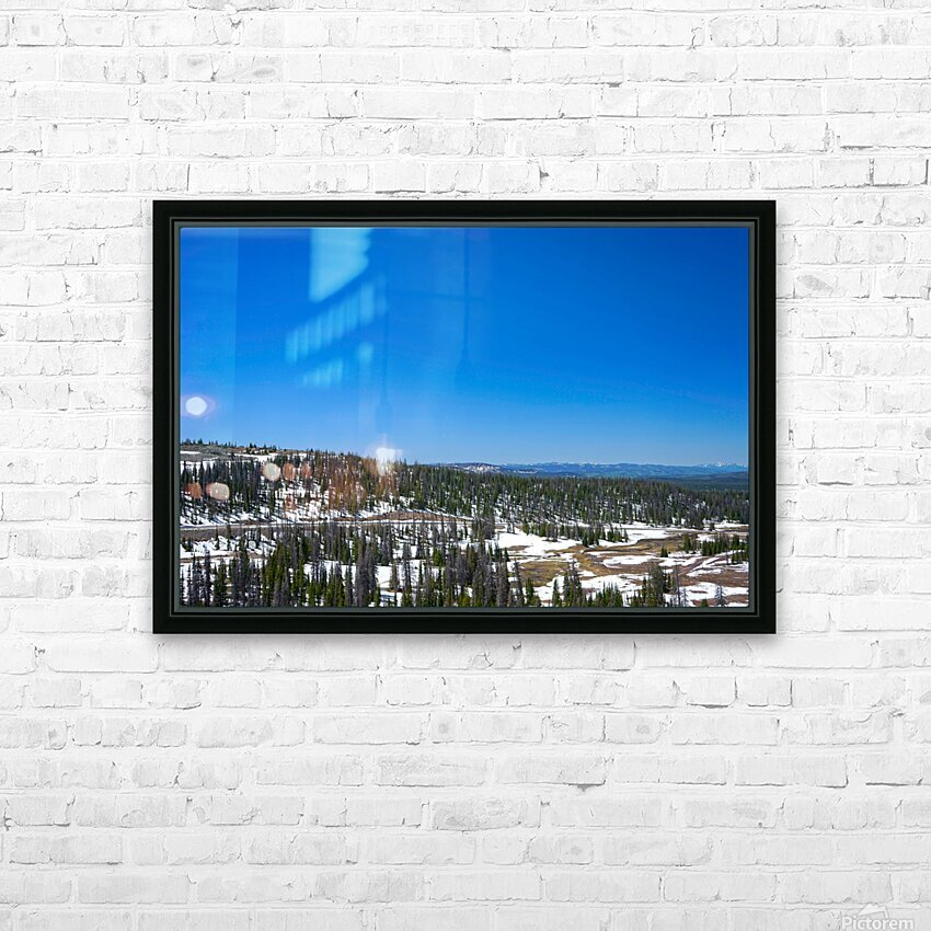 On The Road to Mirror Lake 3 of 5 HD Sublimation Metal print with Decorating Float Frame (BOX)