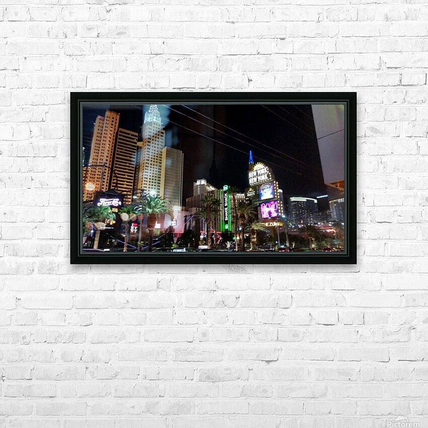 Viva Las Vegas 2 HD Sublimation Metal print with Decorating Float Frame (BOX)