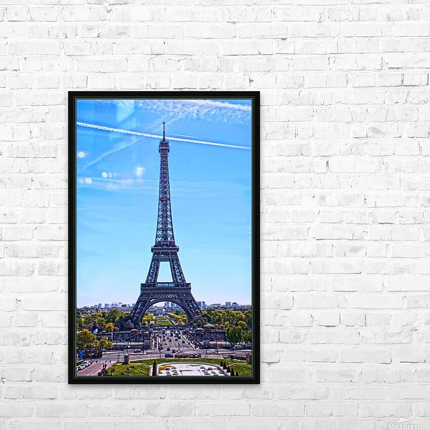 Majestic Eiffel HD Sublimation Metal print with Decorating Float Frame (BOX)