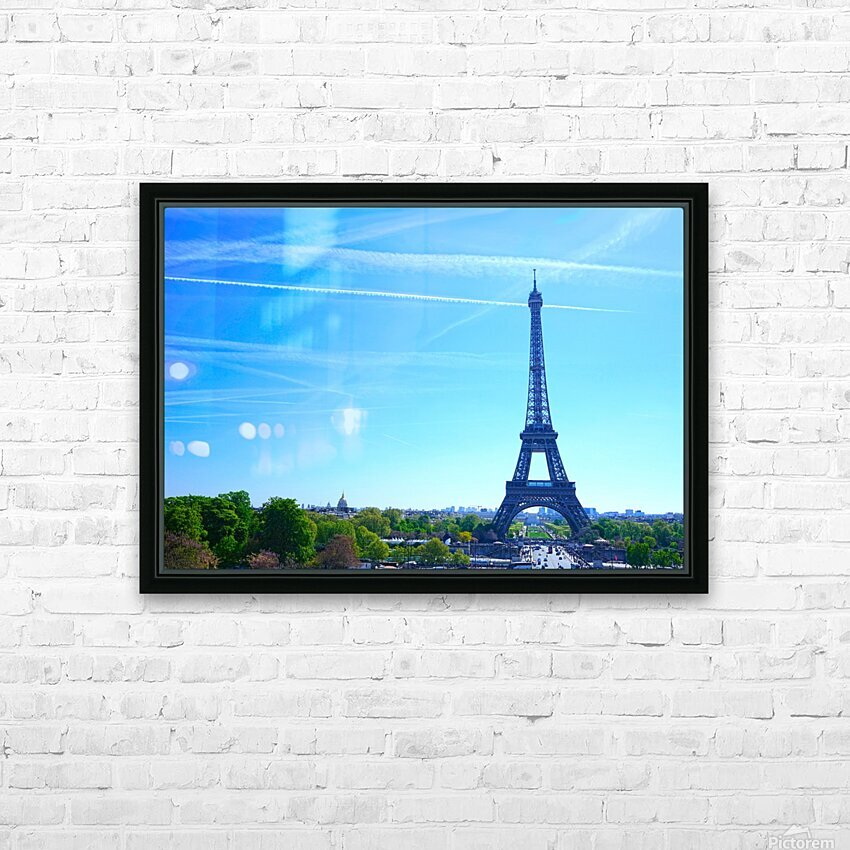 Eiffel Tower HD Sublimation Metal print with Decorating Float Frame (BOX)