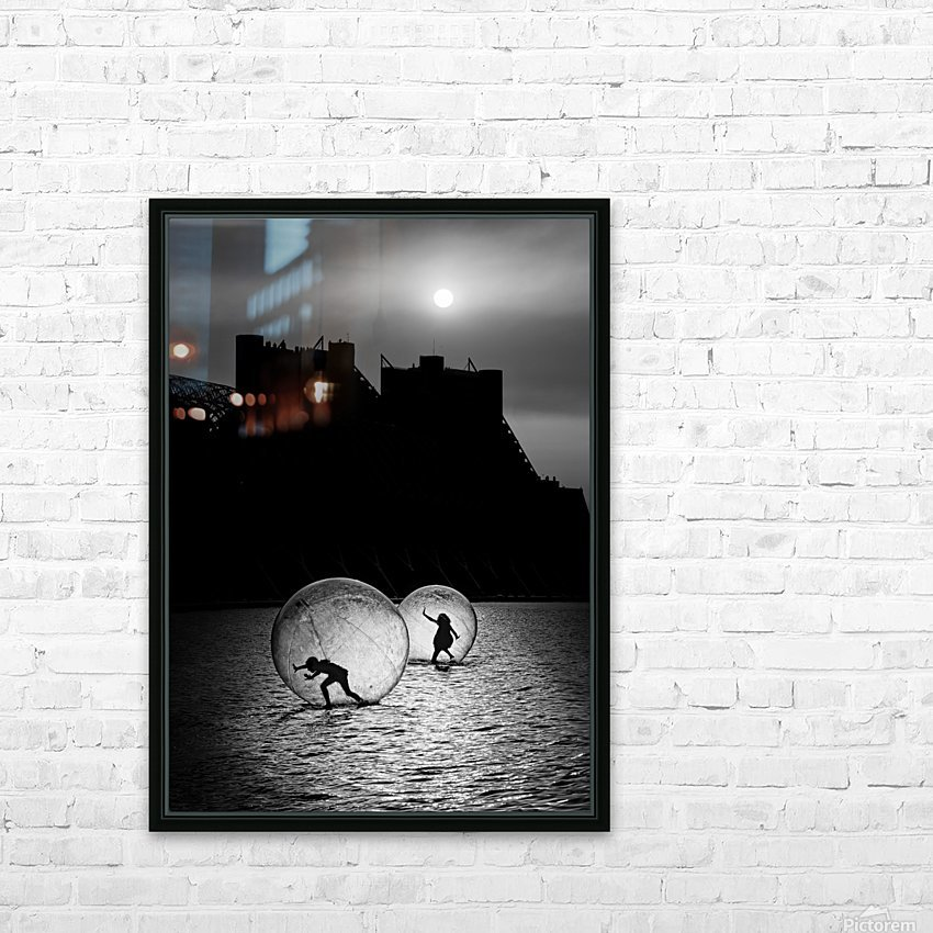 Games in a bubble HD Sublimation Metal print with Decorating Float Frame (BOX)