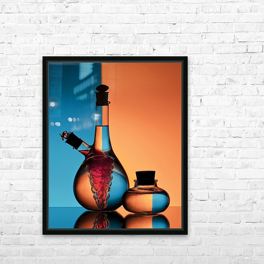 Oil and Vinegar HD Sublimation Metal print with Decorating Float Frame (BOX)