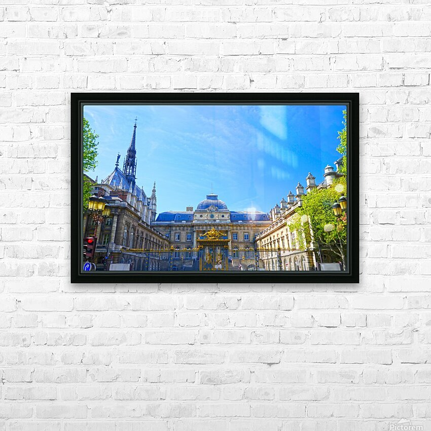Paris Snapshot in Time 4 of 8 HD Sublimation Metal print with Decorating Float Frame (BOX)