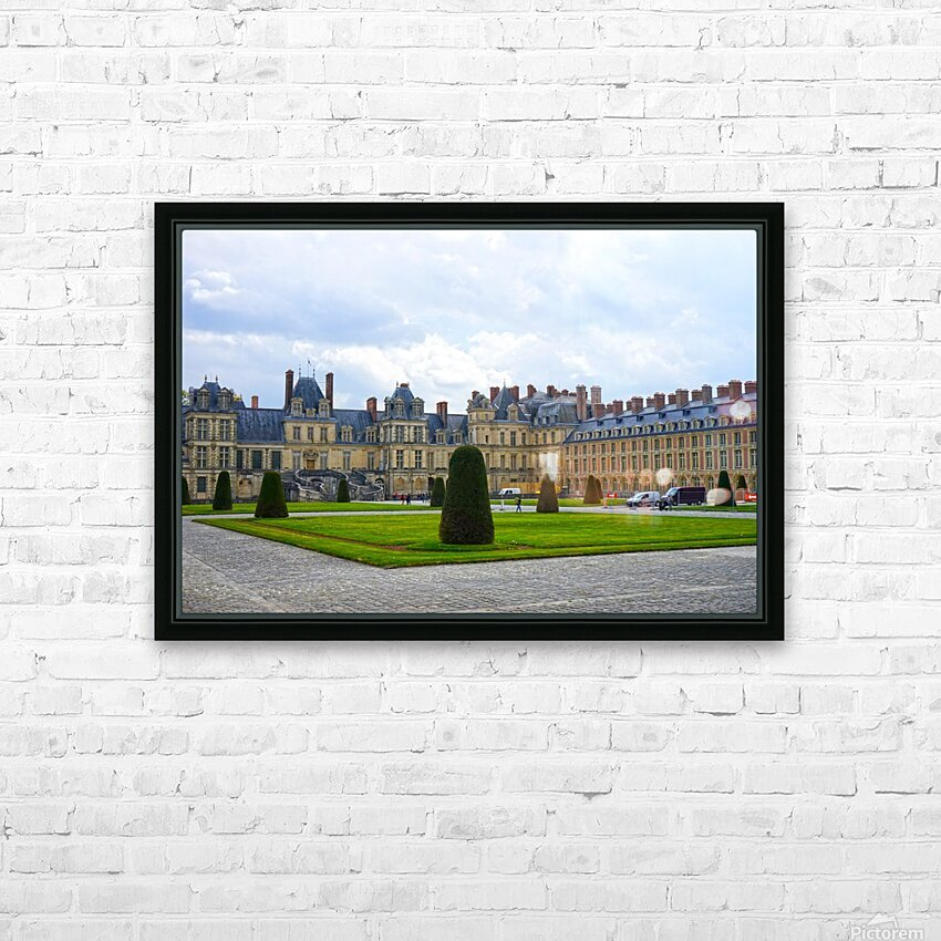 Chateaus of France 3 HD Sublimation Metal print with Decorating Float Frame (BOX)