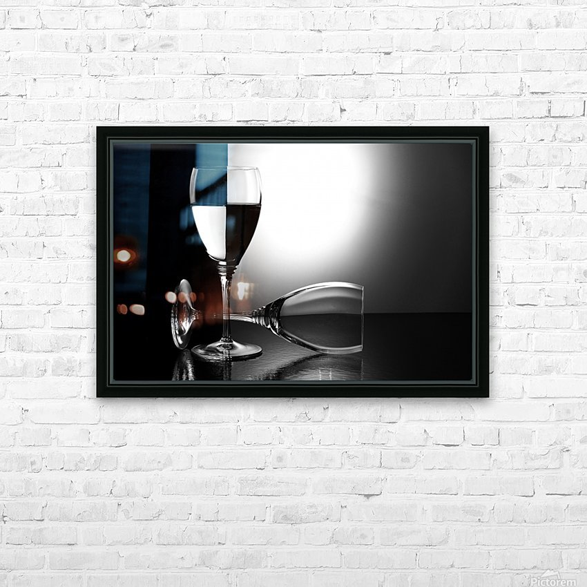 Glasses by madras91   HD Sublimation Metal print with Decorating Float Frame (BOX)