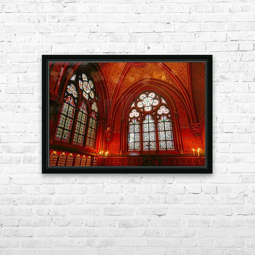 Jeanne d Arc and Saint Croix Cathedral at Orleans   France 6 of 7 HD Sublimation Metal print with Decorating Float Frame (BOX)