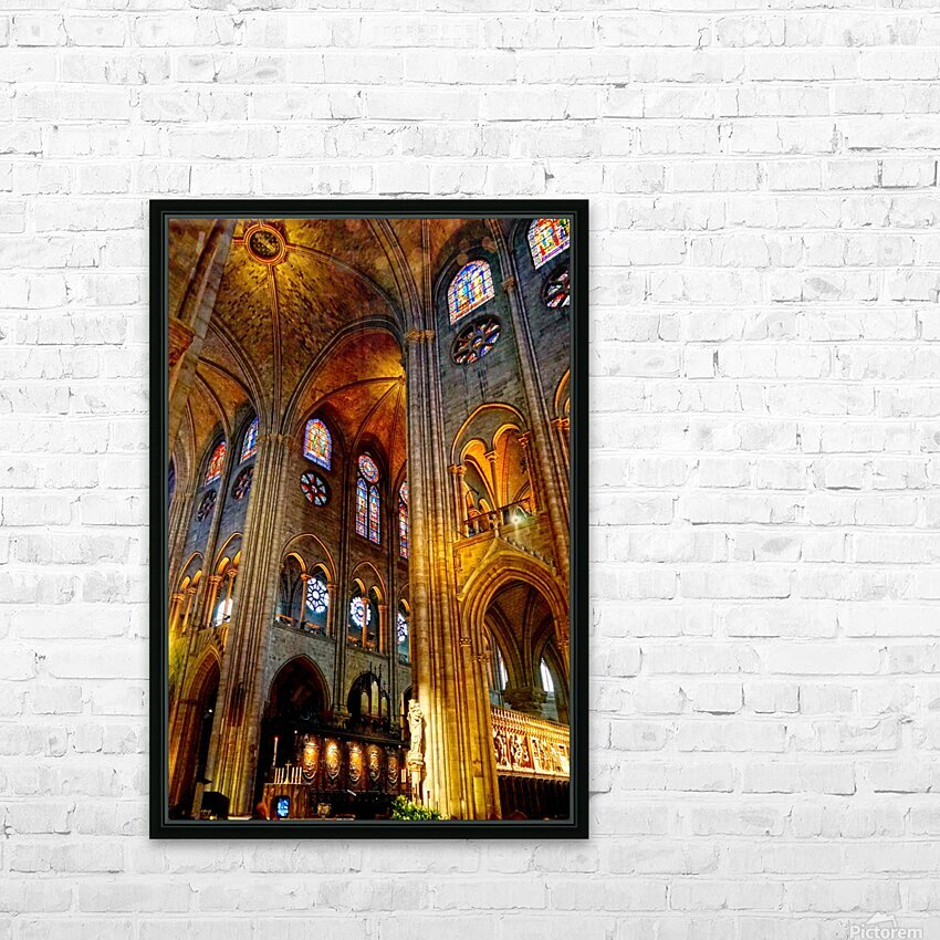Jeanne d Arc and Saint Croix Cathedral at Orleans   France 3 of 7 HD Sublimation Metal print with Decorating Float Frame (BOX)