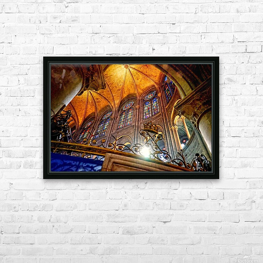 Jeanne d Arc and Saint Croix Cathedral at Orleans   France 7 of 7 HD Sublimation Metal print with Decorating Float Frame (BOX)