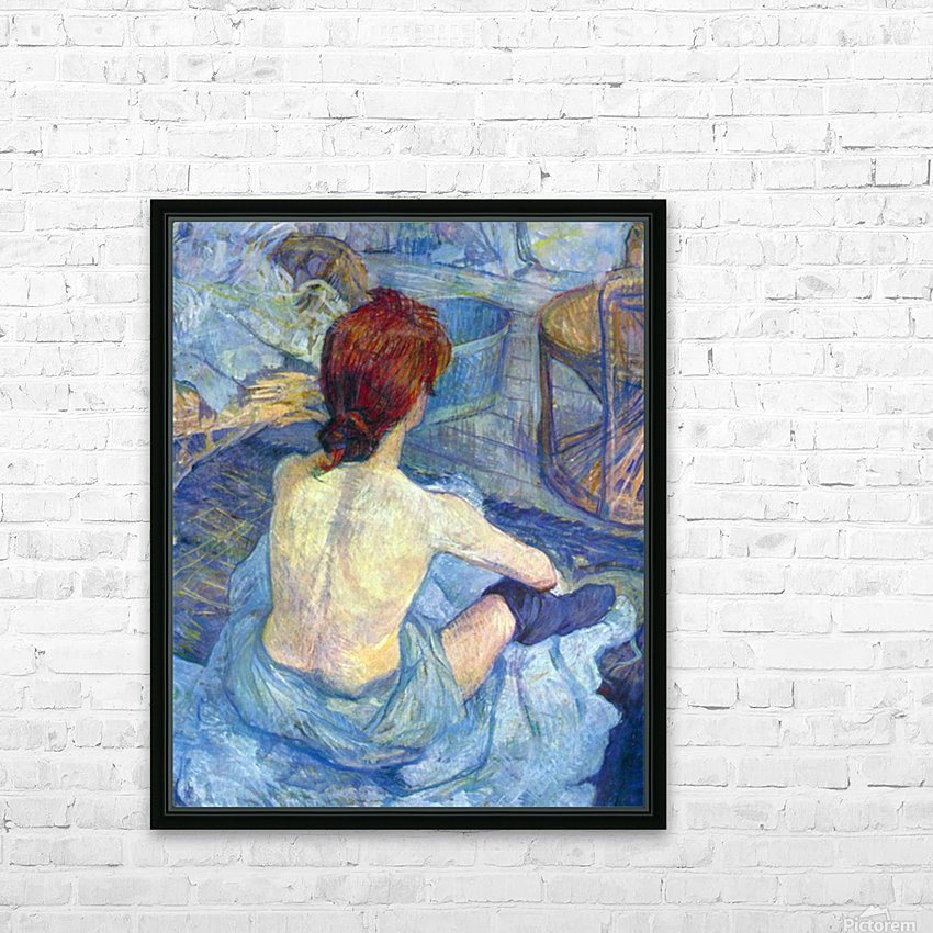 Rousse the Toilet by Toulouse-Lautrec HD Sublimation Metal print with Decorating Float Frame (BOX)