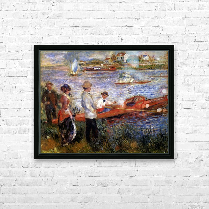 Rowers from Chatou by Renoir HD Sublimation Metal print with Decorating Float Frame (BOX)