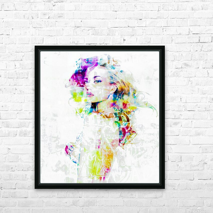 Hey Baby HD Sublimation Metal print with Decorating Float Frame (BOX)