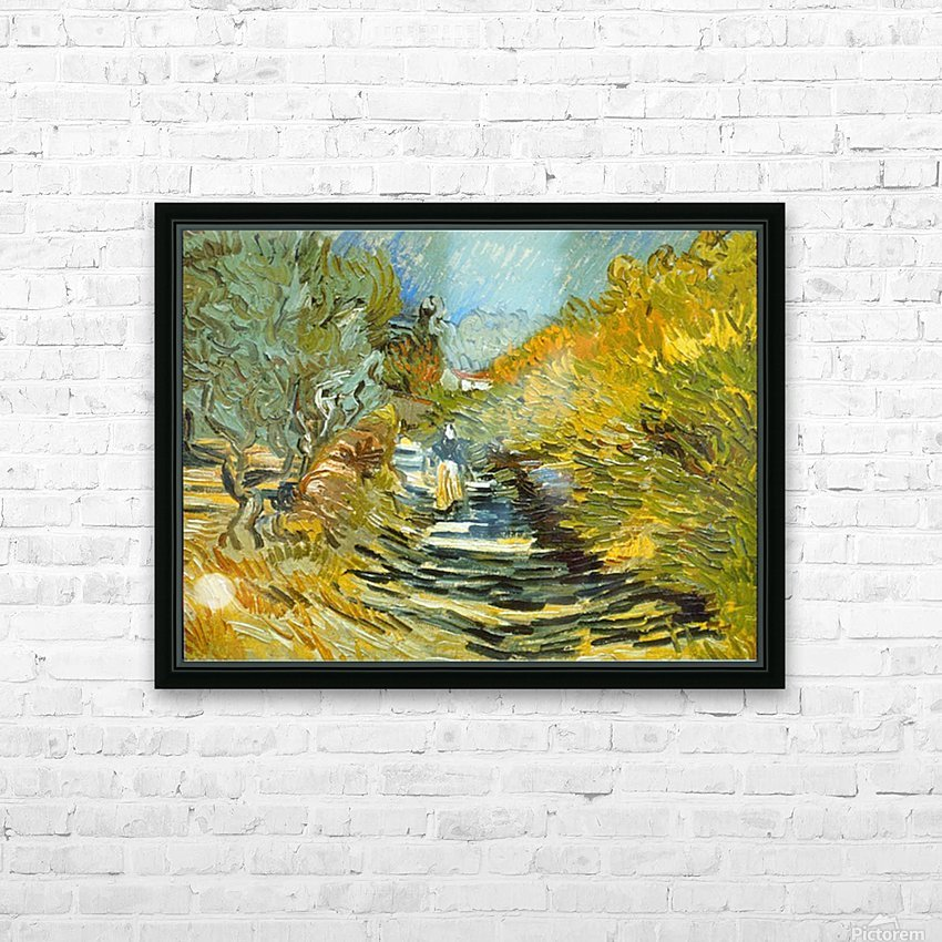Saint-Remy by Van Gogh HD Sublimation Metal print with Decorating Float Frame (BOX)