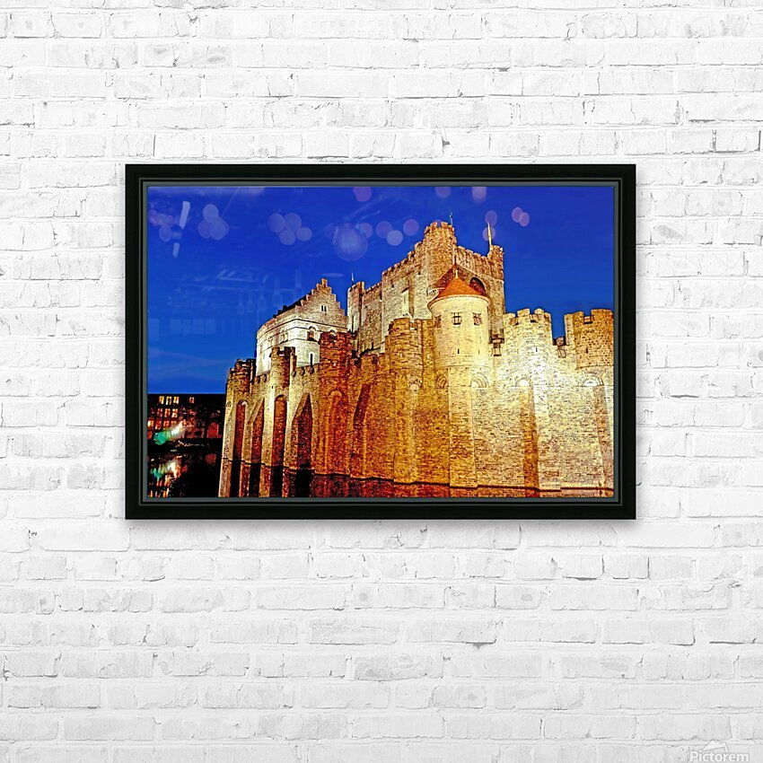 Castle of the Counts Belgium HD Sublimation Metal print with Decorating Float Frame (BOX)