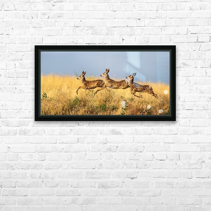 Tripple Jump by verdon   HD Sublimation Metal print with Decorating Float Frame (BOX)
