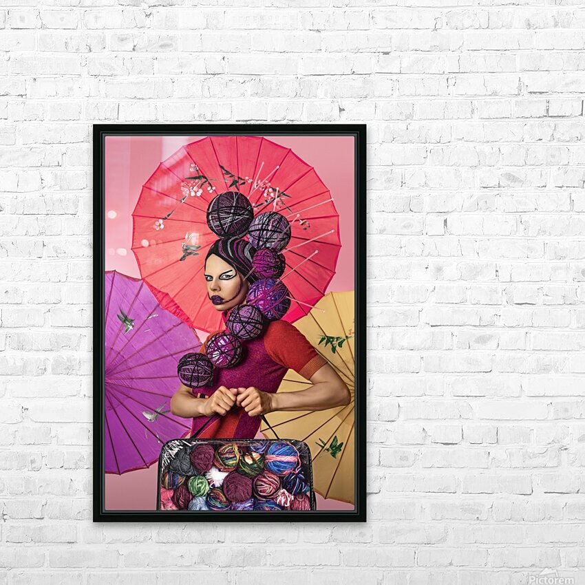 Knit I HD Sublimation Metal print with Decorating Float Frame (BOX)