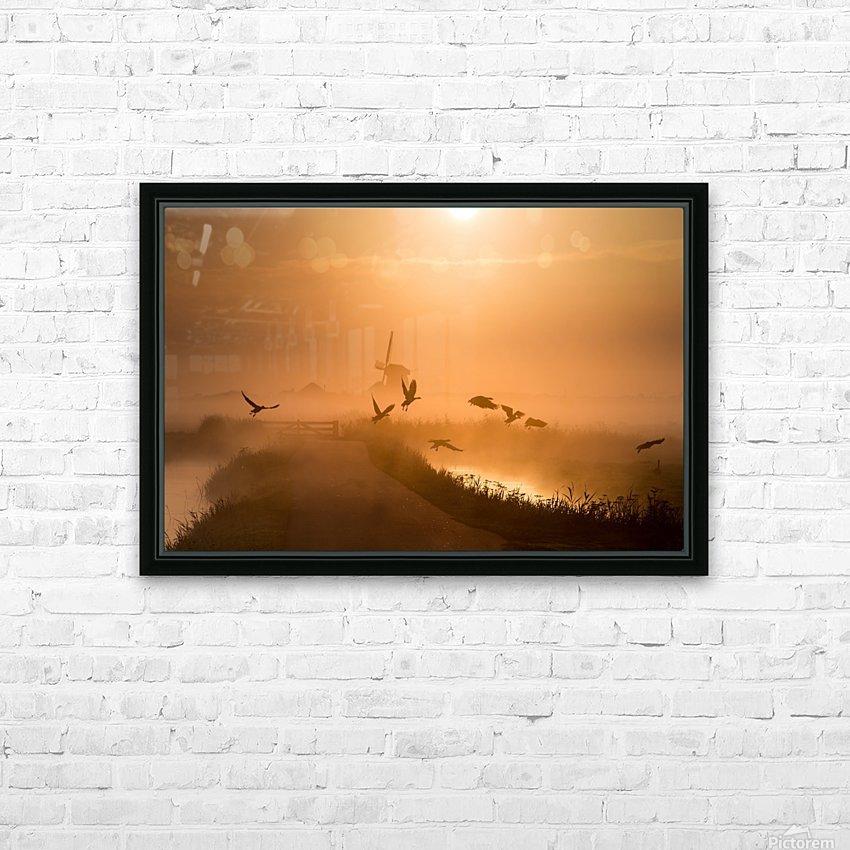 Sunrise Flight HD Sublimation Metal print with Decorating Float Frame (BOX)
