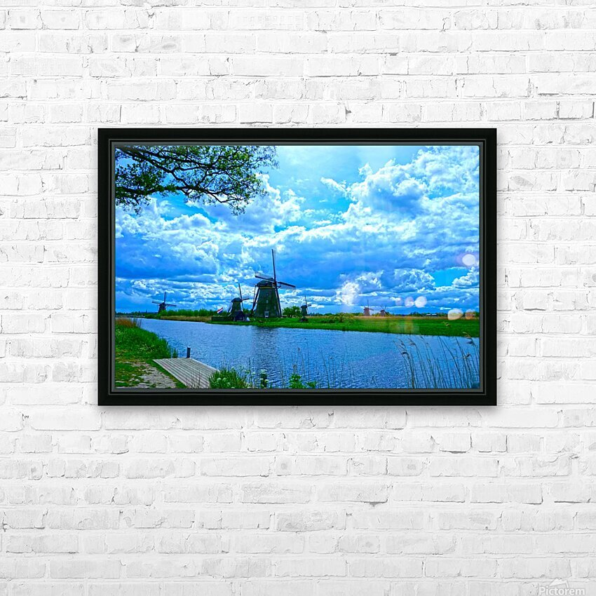 Windmills of the Netherlands 2 of 4 HD Sublimation Metal print with Decorating Float Frame (BOX)