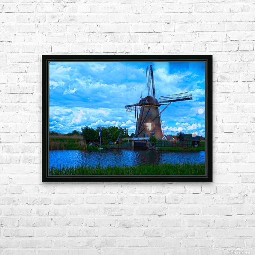 Windmill After the Storm HD Sublimation Metal print with Decorating Float Frame (BOX)