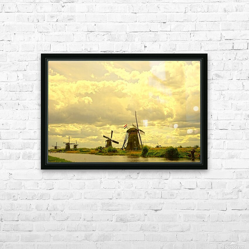 Windmills at Sunset - Netherlands HD Sublimation Metal print with Decorating Float Frame (BOX)
