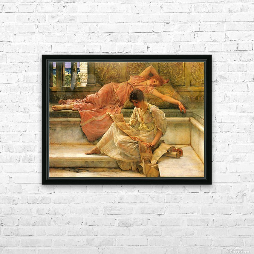 A favorite poet by Alma-Tadema HD Sublimation Metal print with Decorating Float Frame (BOX)