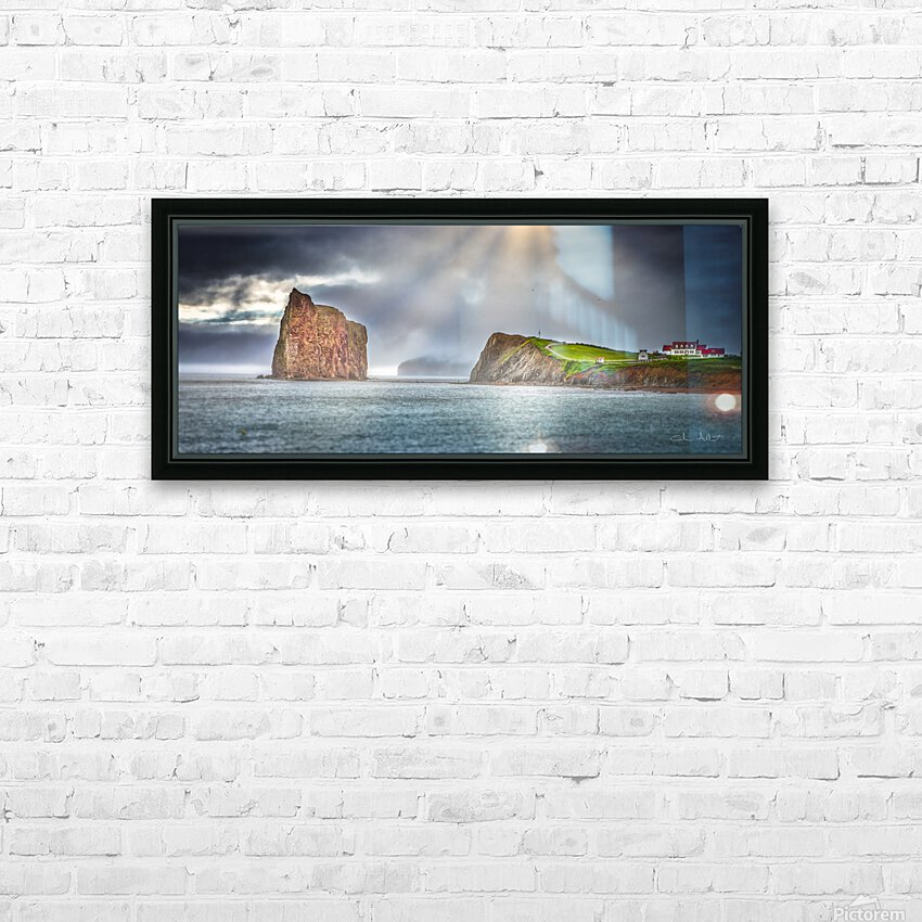Cap Mont-Joli et son Rocher Perce HD Sublimation Metal print with Decorating Float Frame (BOX)