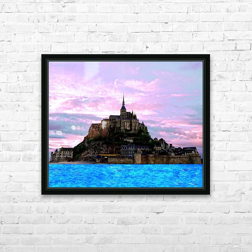 Mont St Michel at Sunset - France HD Sublimation Metal print with Decorating Float Frame (BOX)