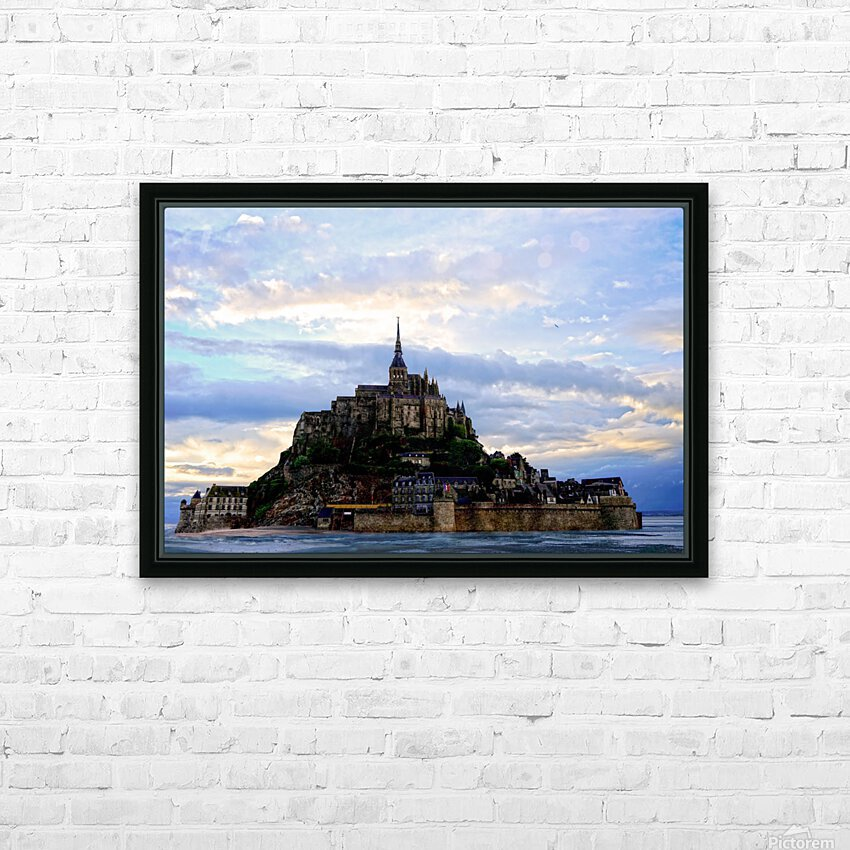 Mont St Michael Rising Tide - France HD Sublimation Metal print with Decorating Float Frame (BOX)