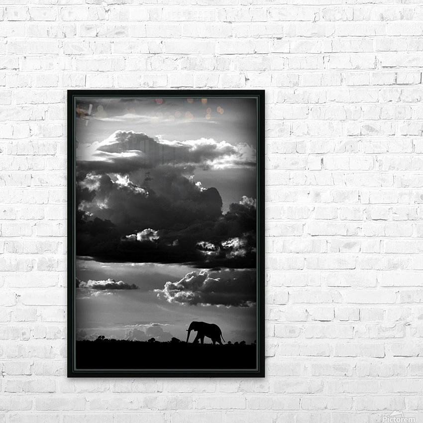 He walks under an African Sky by WildPhotoArt   HD Sublimation Metal print with Decorating Float Frame (BOX)