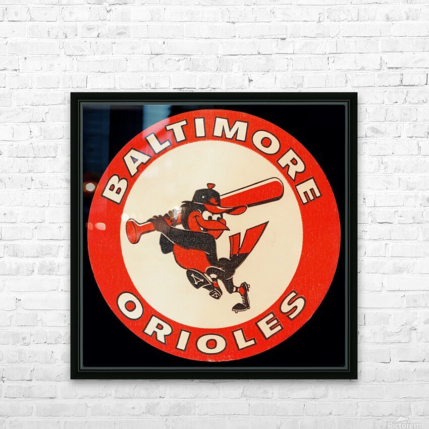 1960s Baltimore Orioles Art HD Sublimation Metal print with Decorating Float Frame (BOX)