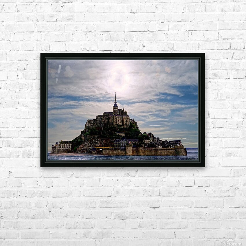 Mount Saint Michael The Fires of Heaven - Normandy France HD Sublimation Metal print with Decorating Float Frame (BOX)