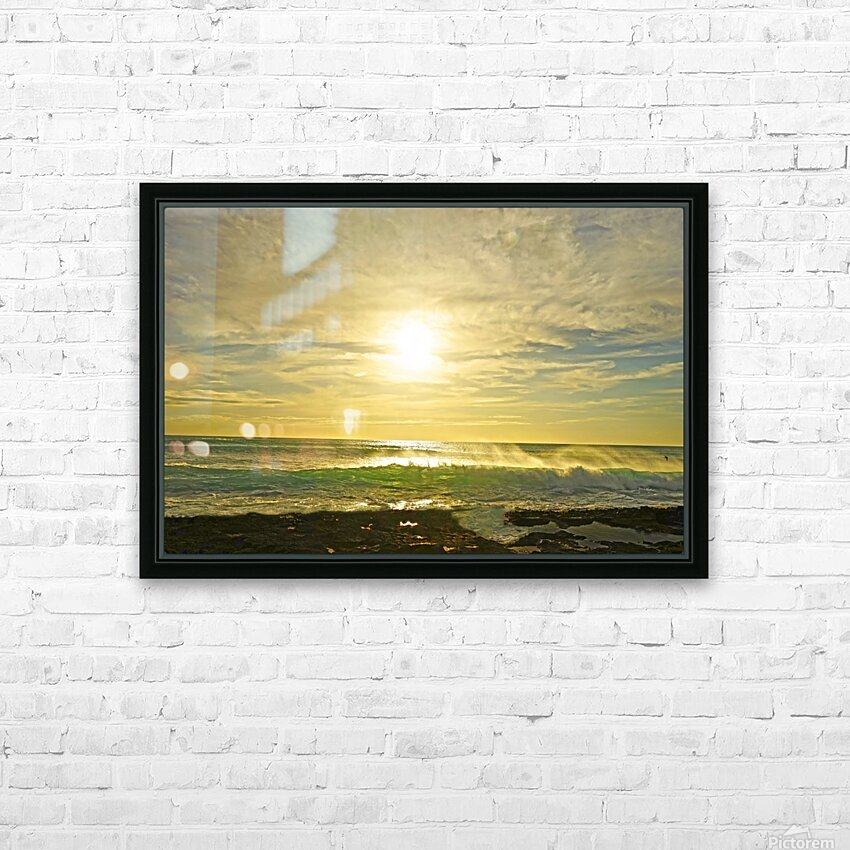 Splash - Sunset Hawaii HD Sublimation Metal print with Decorating Float Frame (BOX)